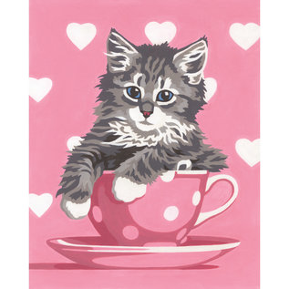 Paintworks Tasse à thé chaton