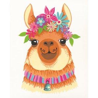 Paintworks Lama fleuri