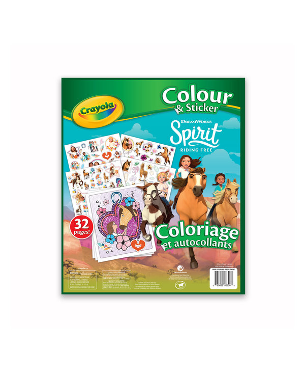 Coloriage et autocollants Spirit