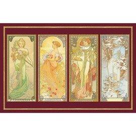 Piatnik PZ1000 Mucha, Four Seasons, Gold Foil