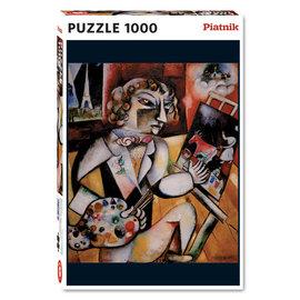 Piatnik PZ1000 Self-portrait with seven fingers, Chagall