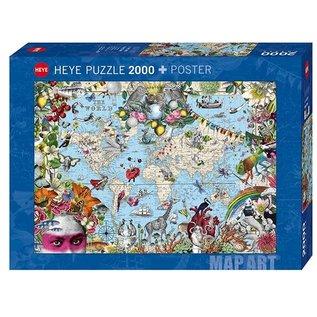 Heye PZ2000 Quirky world, Map Art