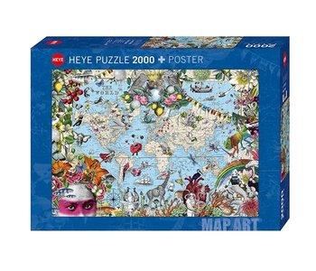 PZ2000 Quirky world, Map Art