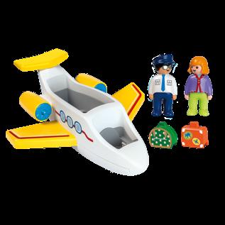 Playmobil 70185 - Avion avec pilote & vacancière 1.2.3