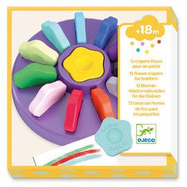 DJECO 12 crayons fleurs pour les petits