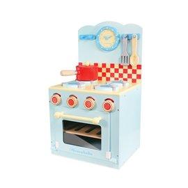 La cuisinière et four bleu