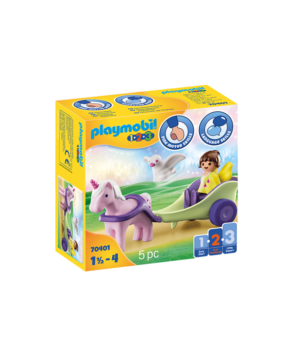Unicorn Carriage with Fairy 1.2.3.