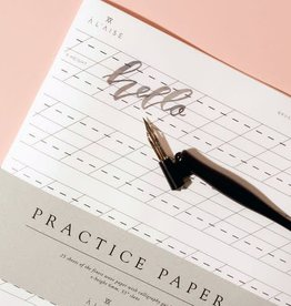 A L'aise Brush Lettering Practice Paper