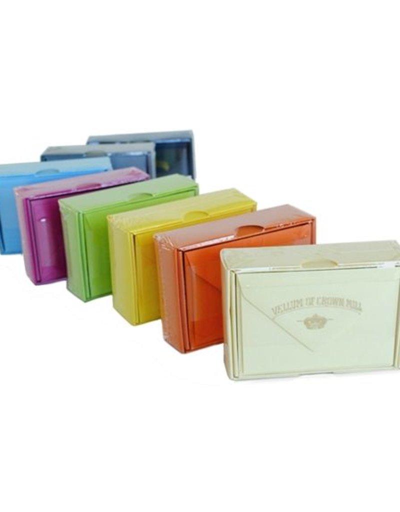 Original Crown Mill Color Vellum Small Card Box