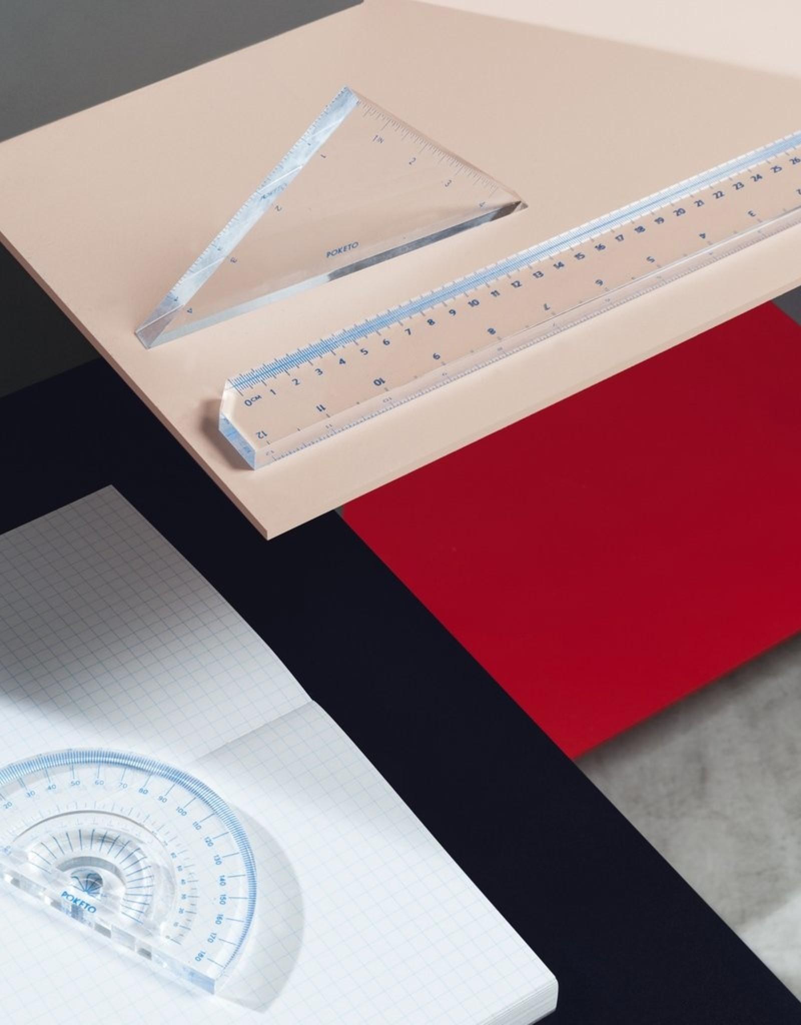 Poketo Poketo Lucite Triangle Ruler