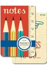 Cavallini Office Pocket Notebook Set 2 pcs