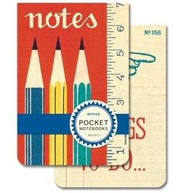Cavallini Office Pocket Notebook Set 2 pcs