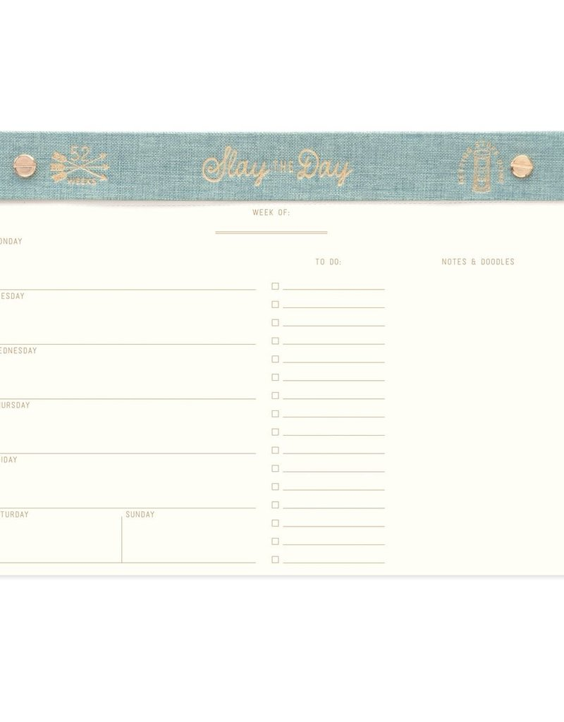 Designworks Ink Weekly Planner Desk Pad