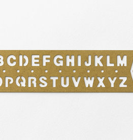 Traveler's Company Traveler's Company Brass Template Bookmark