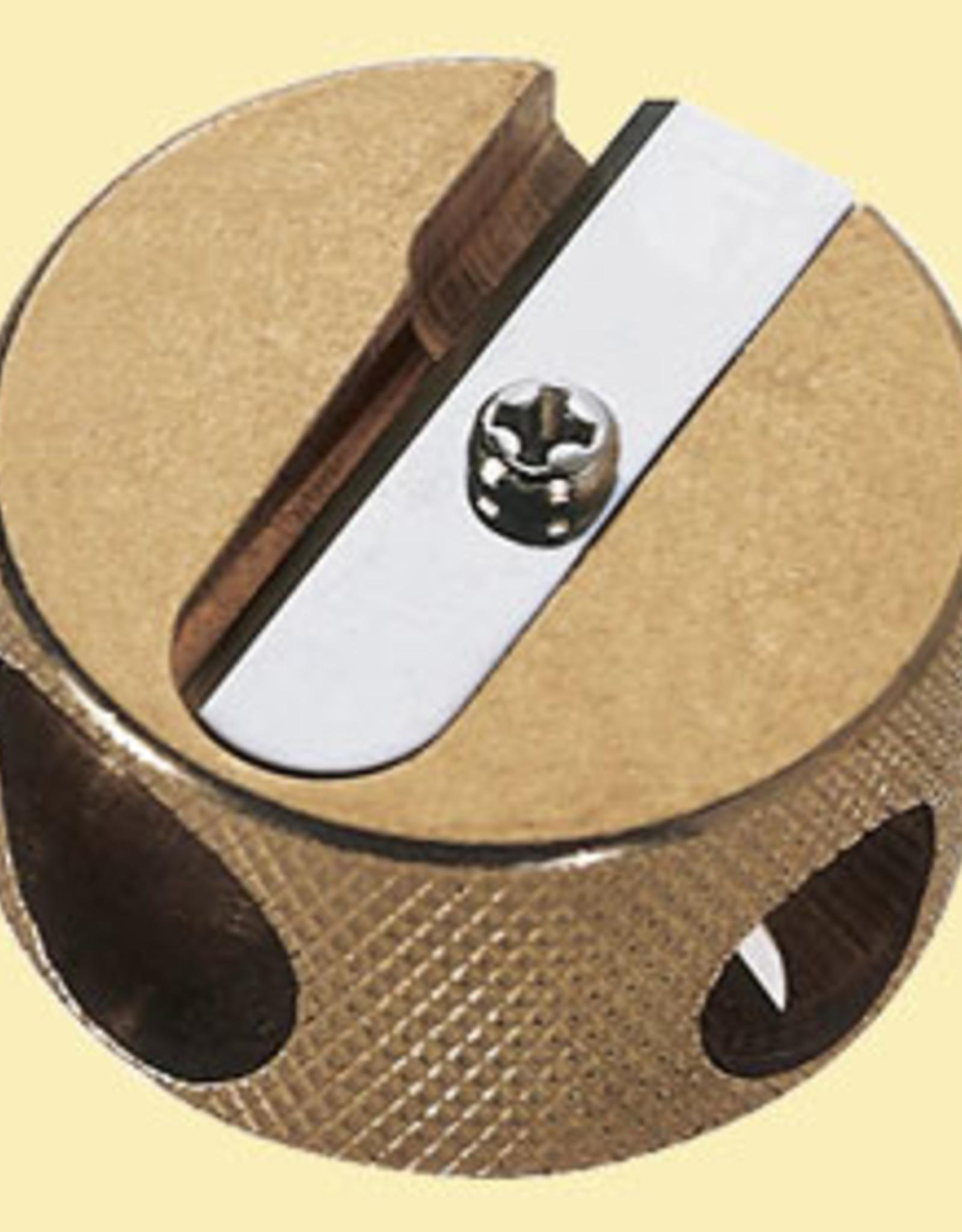 M+R Brass Pencil Sharpener