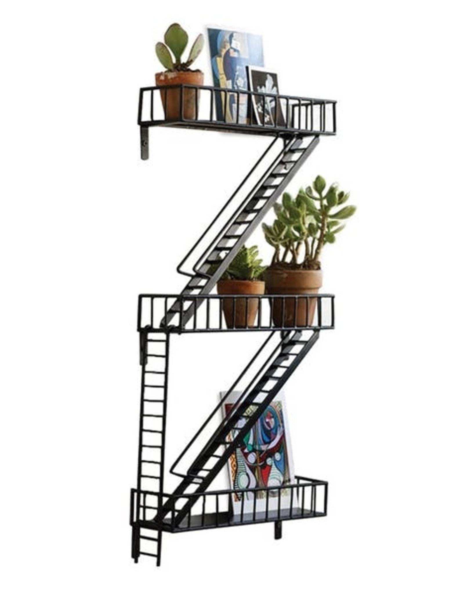 Design Ideas Fire Escape Wall Shelf