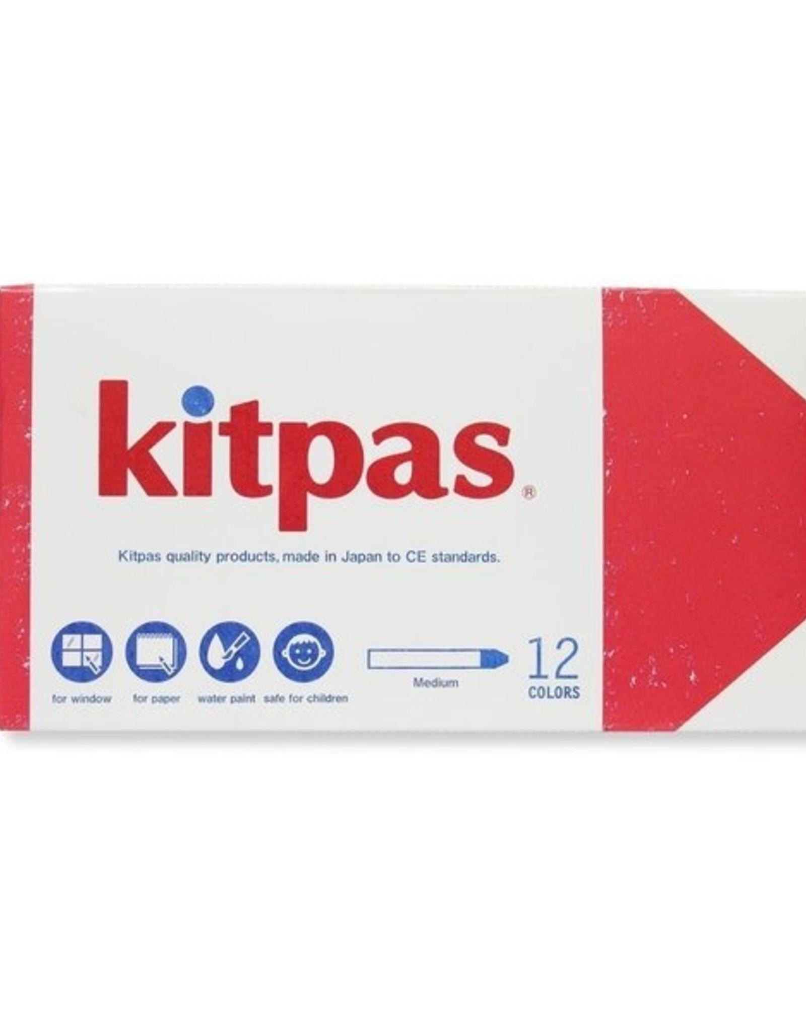 Kitpas Kitpas Medium 12 Colors Art Crayons