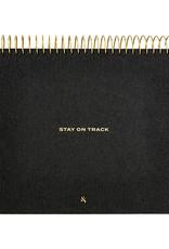 Wit & Delight Linen Stay on Track Desktop Notepad