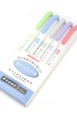 Zebra Mildliner 5 Color Set