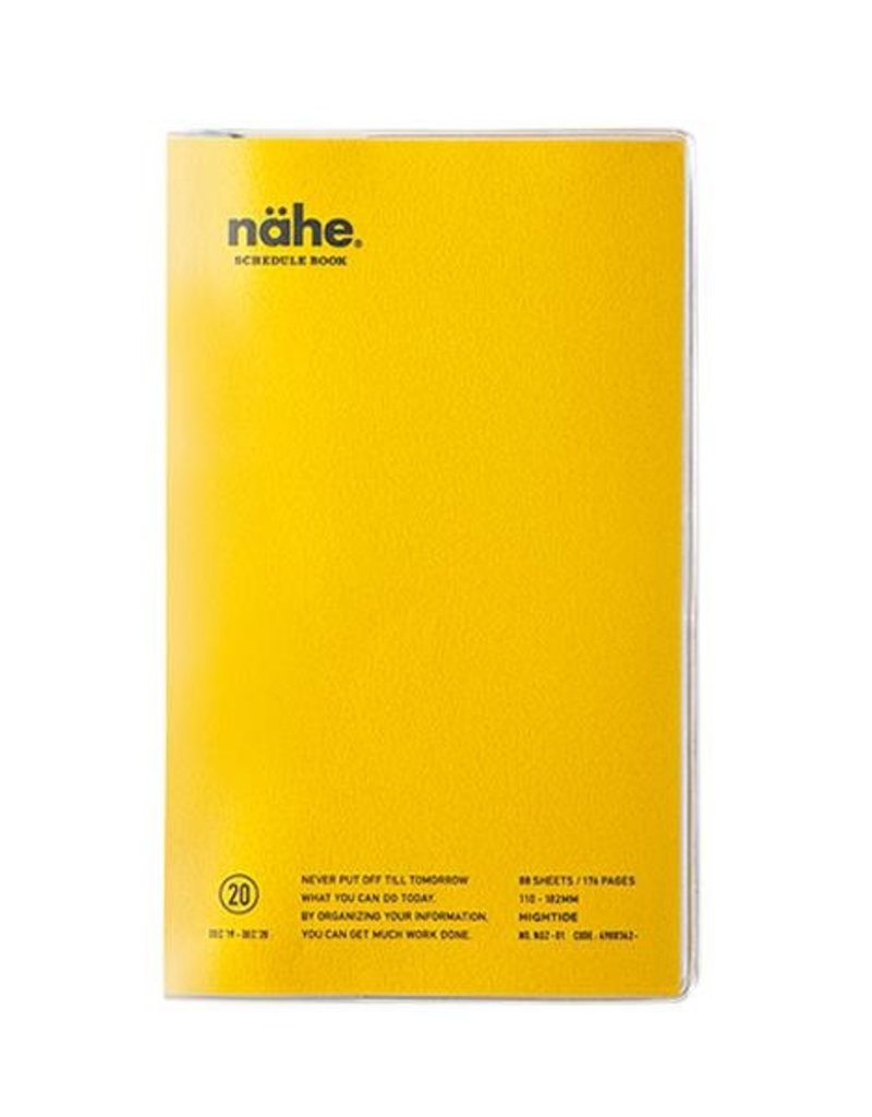 Hightide Hightide B6 Slim Vertical 2020 Planner Nahe