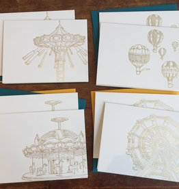 Ferris Wheel Press Ferris Wheel Hand-Pressed Note Card Set