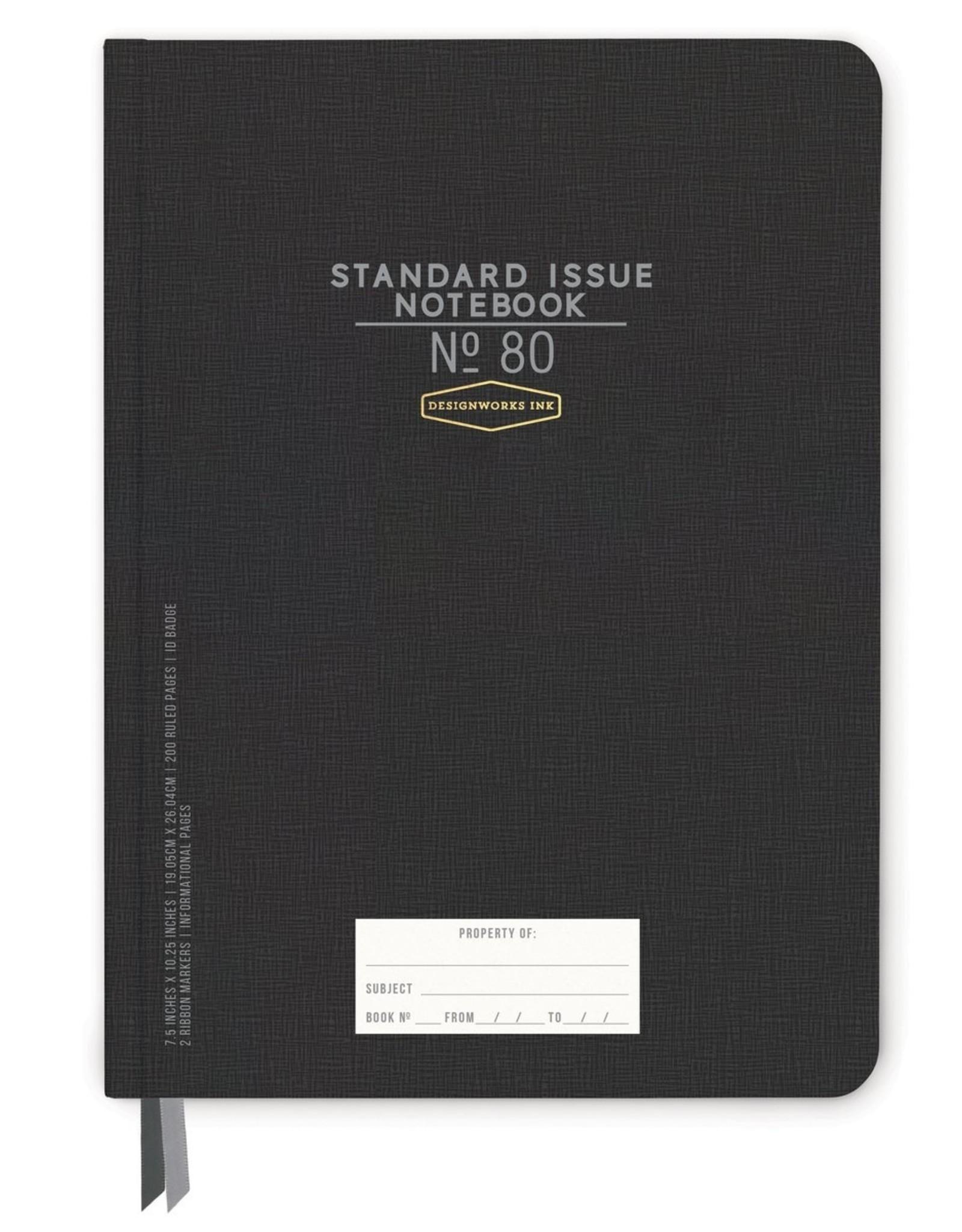 Designworks Ink Standard Issue Notebook No. 80
