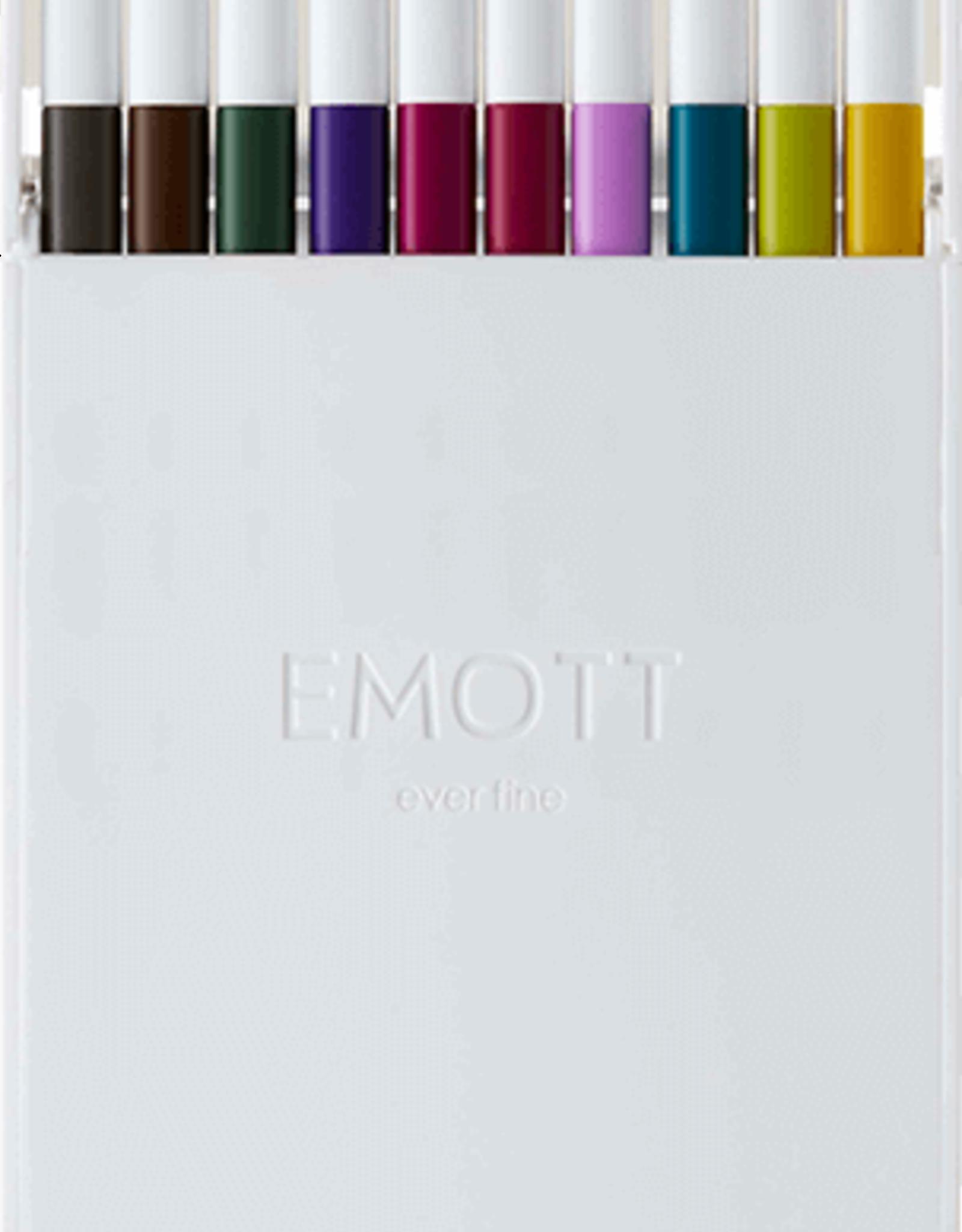 Uni UNI EMOTT Fine Line Pen 10 Pcs