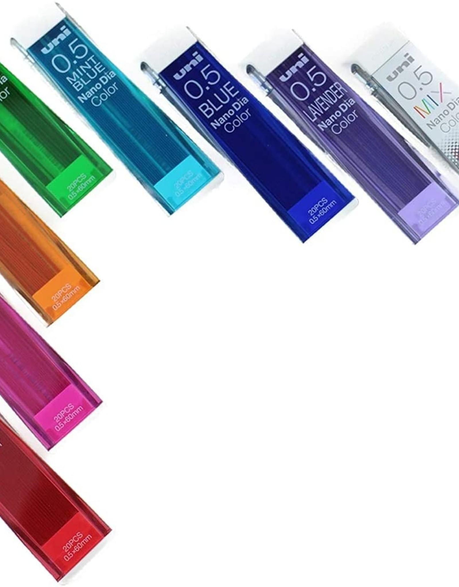 Mitsubishi Pencil Nanodia Color Mechanical Pencil Lead 0.5 mm