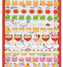Puffy Petit Motchiri Seal Sticker Sheet