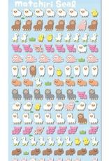 Puffy Petit Motchiri Seal Sticker Sheet