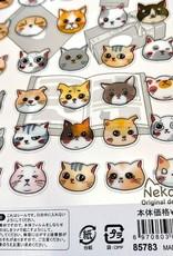 Nekoni Animal Head Sticker Sheet
