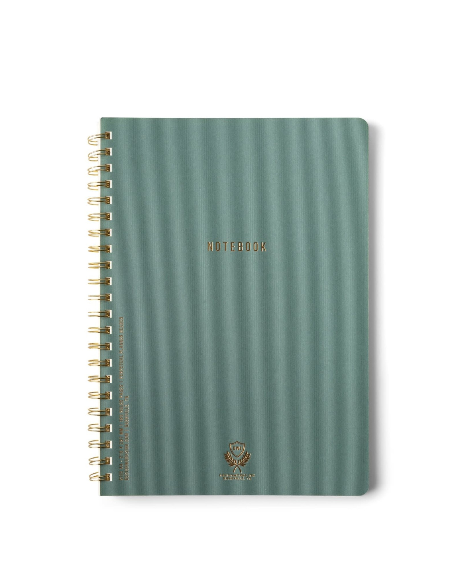 Designworks Ink Textured Paper Cover Twin Wire Crest A4 Notebook