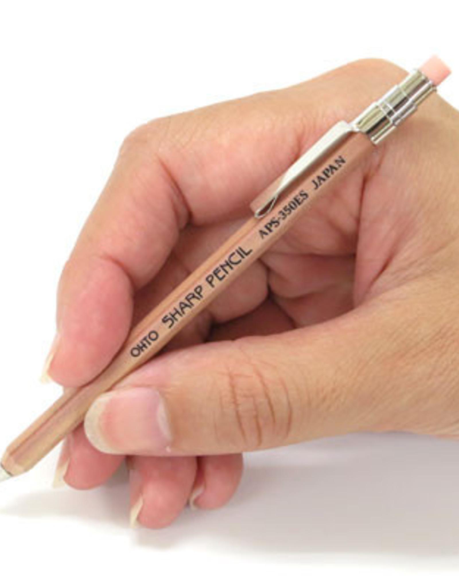 Ohto Wooden Mechanical Pencil Mini w/Eraser & Clip 0.5 mm