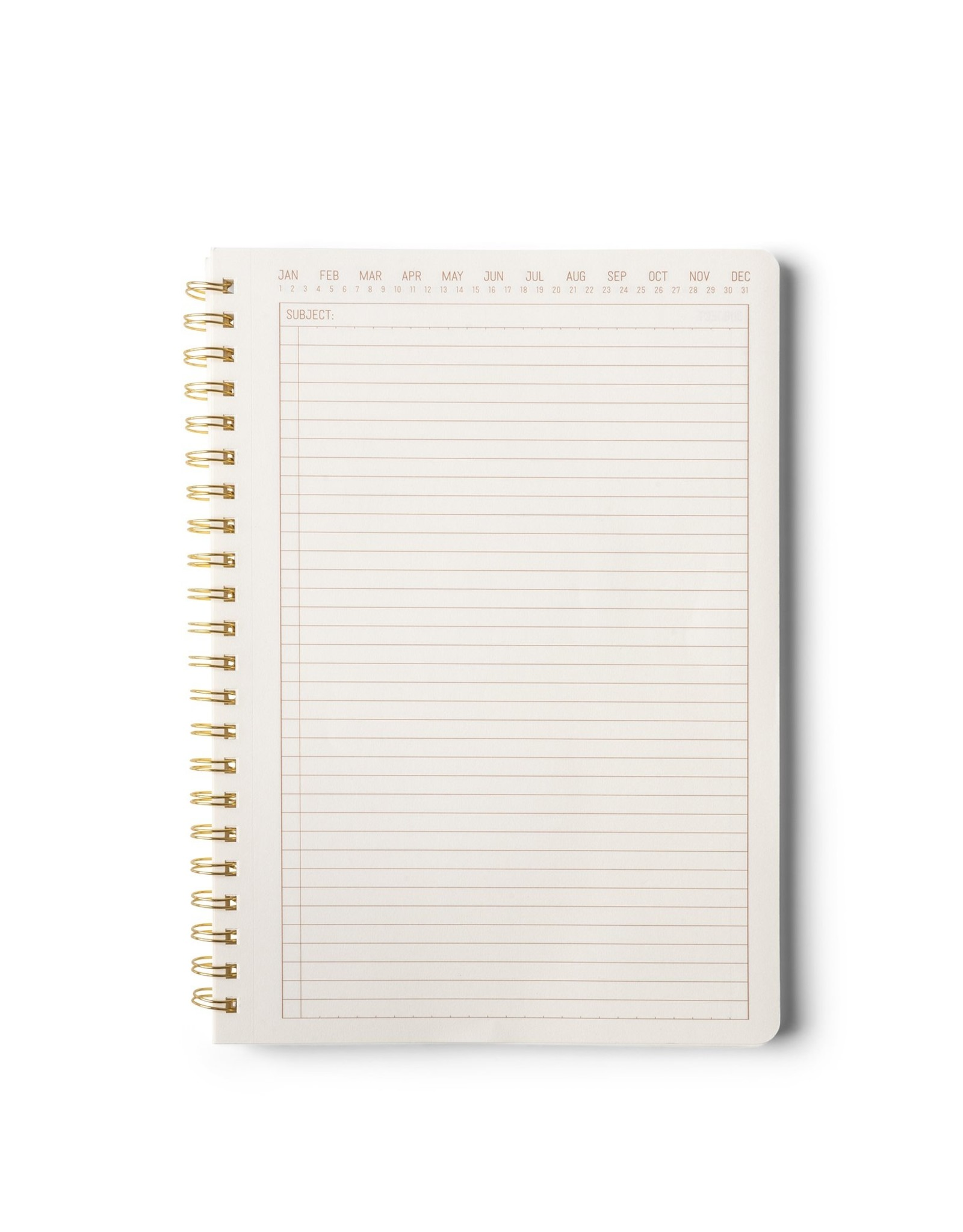 Designworks Ink Textured Paper Cover Twin Wire Crest A5 Notebook