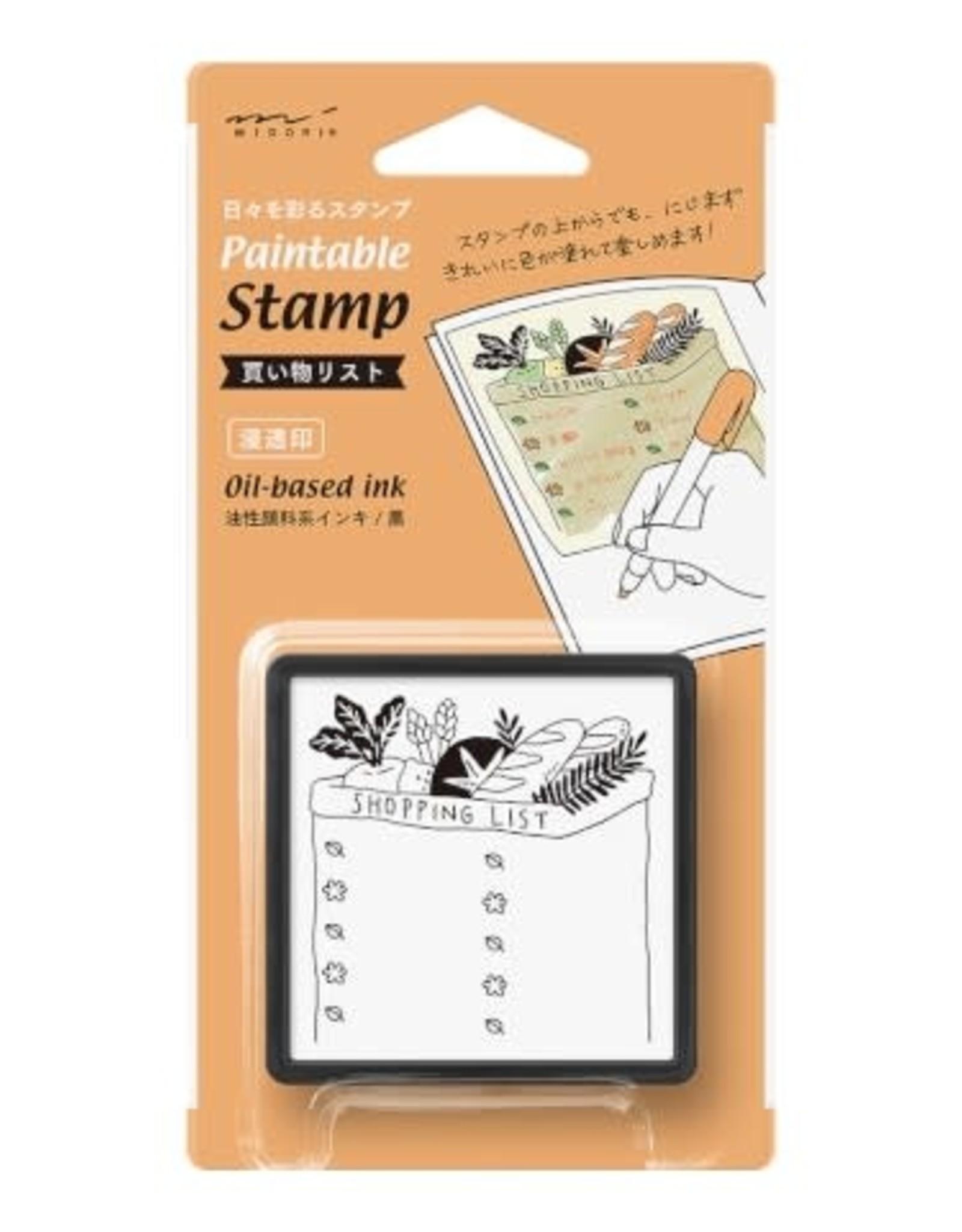 Midori Paintable Stamp Pre-Inked