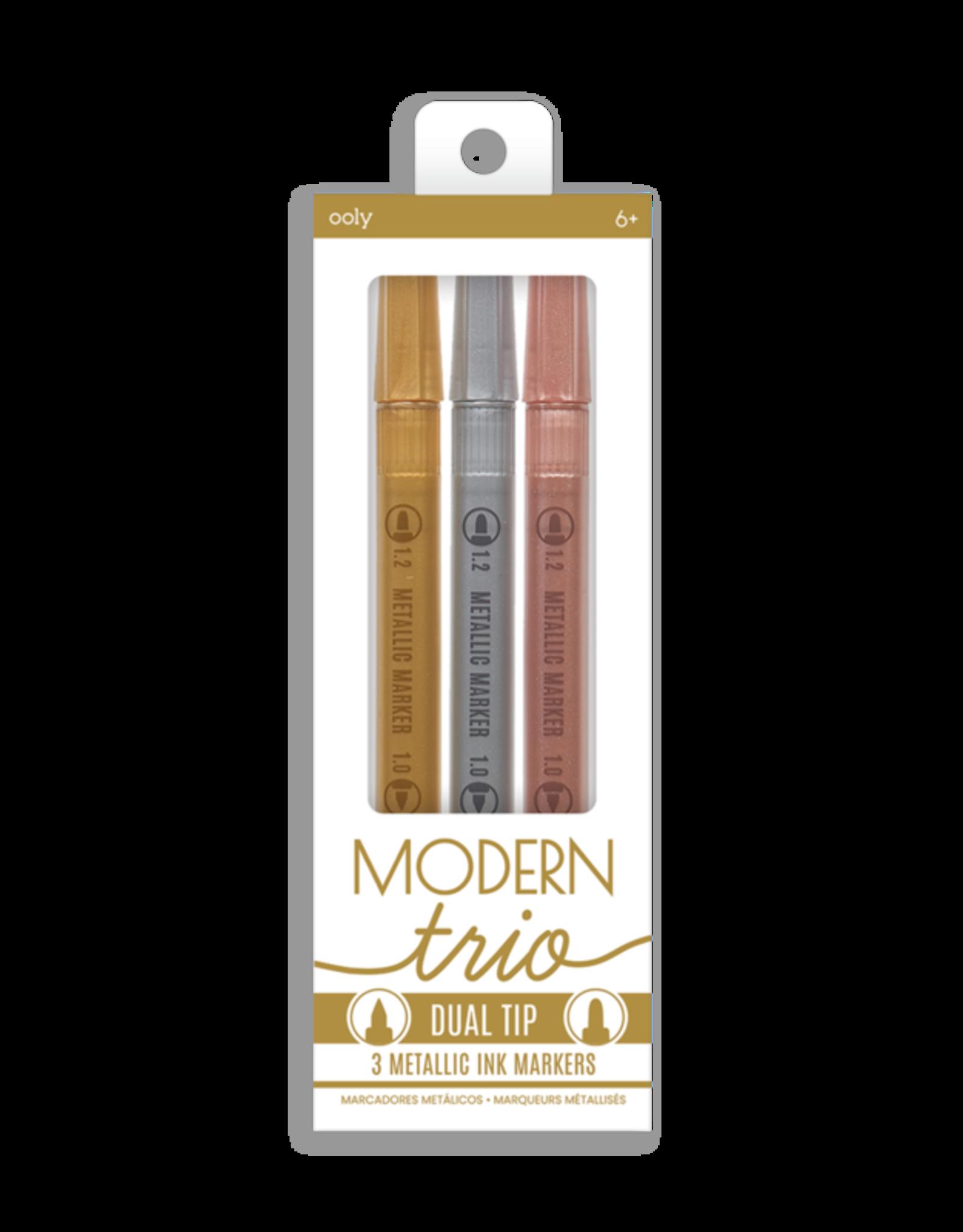 Ooly Modern Trio Dual Tip Metallic Markers