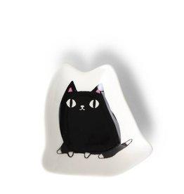 "Miya Cat Shape Plate 3"""