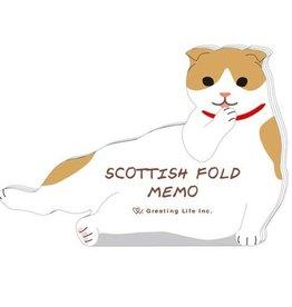Greeting Life Die Cut Cat Memo Pad