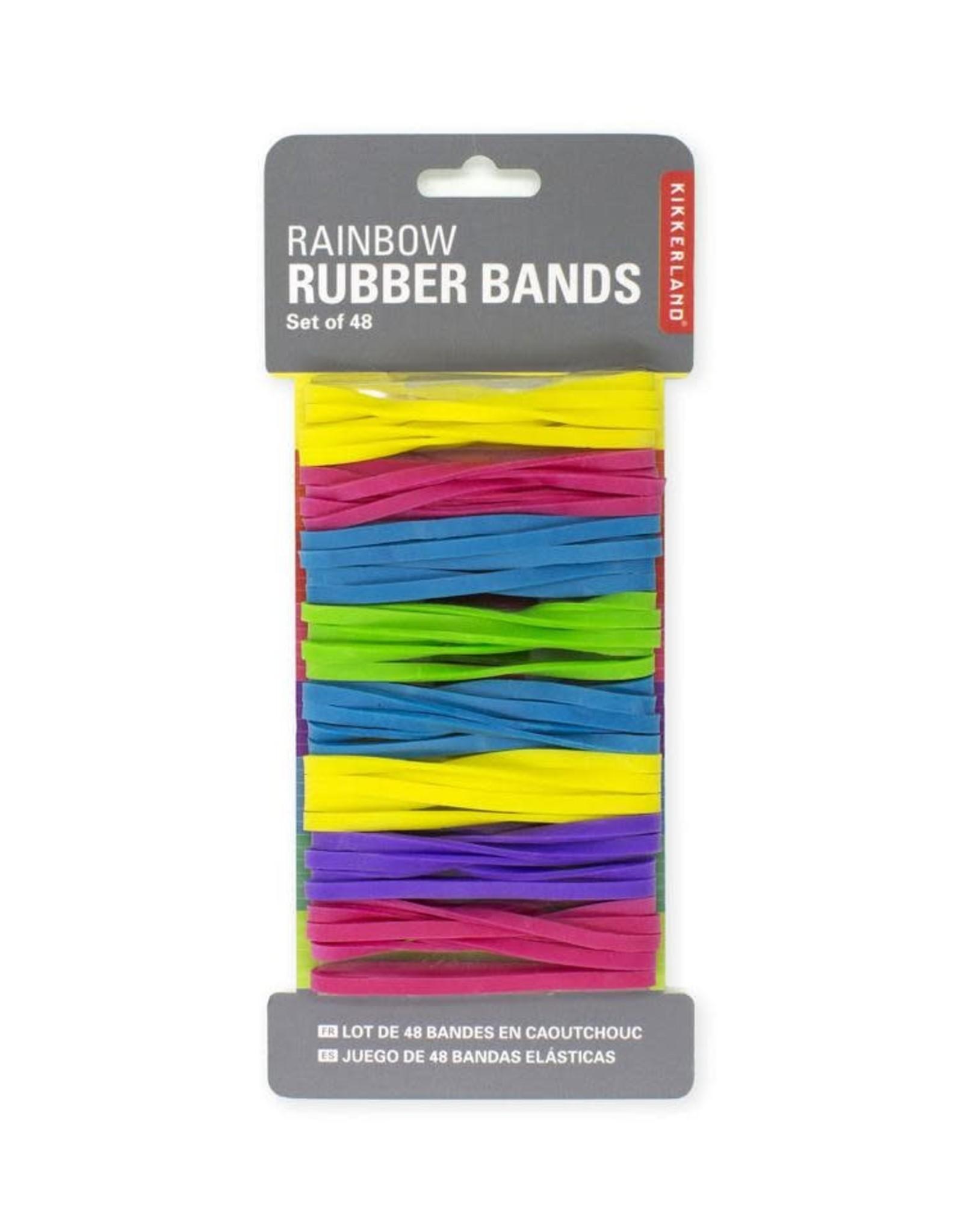Kikkerland Rainbow Rubberbands