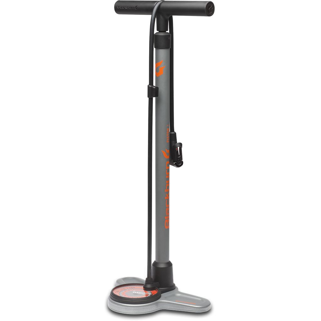 BLACKBURN Blackburn Piston 3 Floor Pump - Grey/Orange