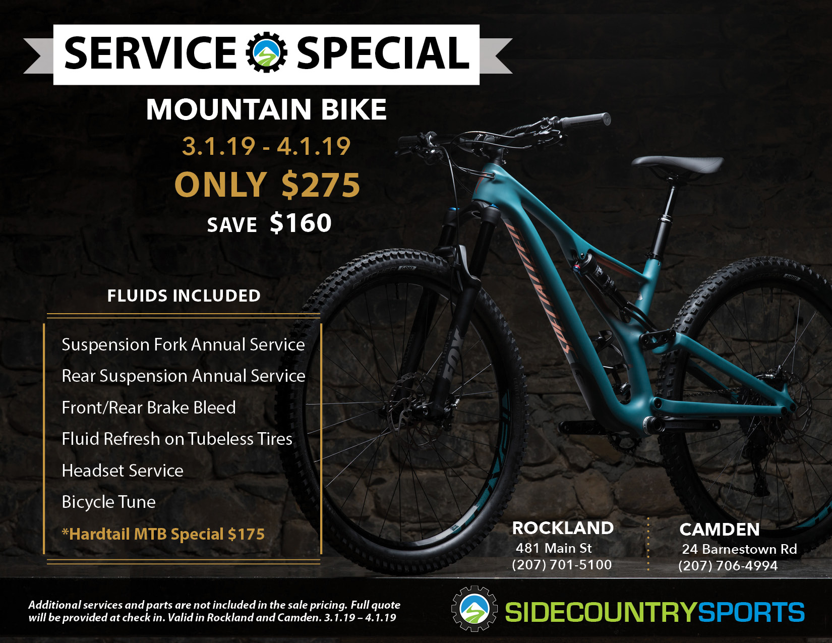Mountain Bike Service Special