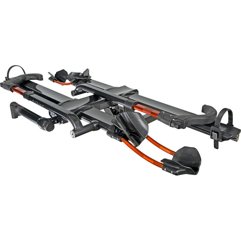 "Kuat Kuat NV 2.0 2-Bike Tray Hitch Rack: Metallic Gray and Orange, 2"" Receiver"
