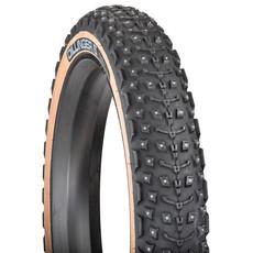 45NRTH 45NRTH Dillinger 5 Tire - 26 x 4.6, Tubeless, Folding, Tan, 60tpi, 258 Concave Carbide Aluminum Studs