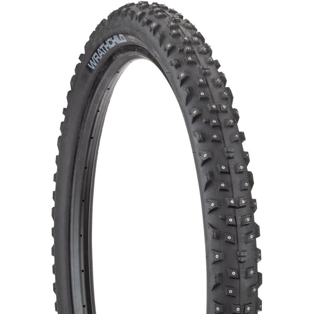 45NRTH 45NRTH Wrathchild Tire - 29 x 2.6, Tubeless, Folding, Black, 60tpi, 252 Concave Carbide Studs