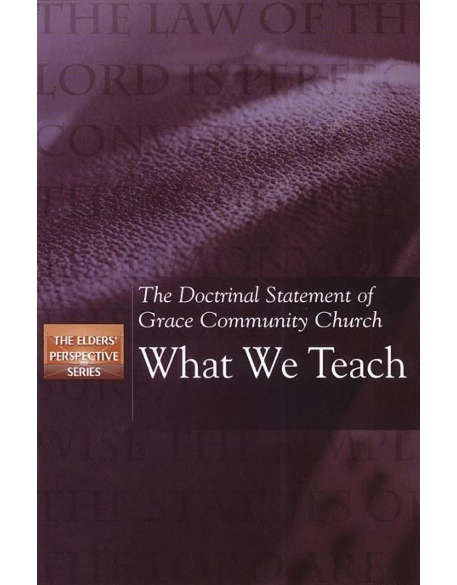 What we Teach (Elders Perspective)