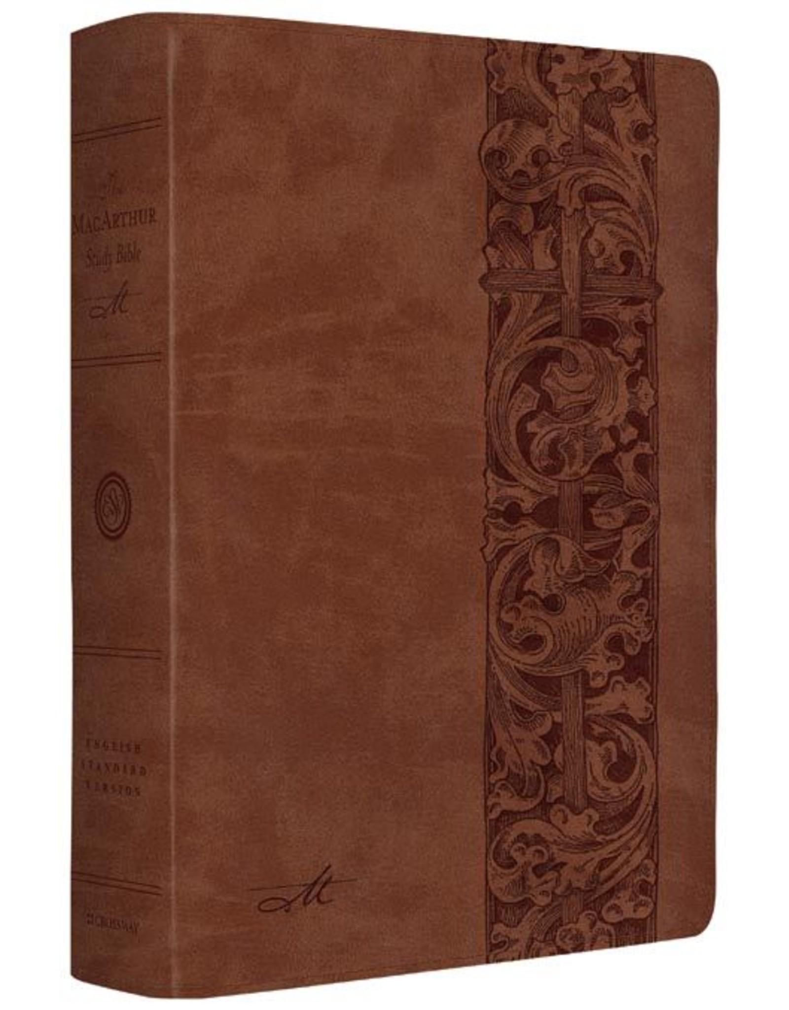 Crossway / Good News MacArthur Study Bible ESV - TruTone Brown/Woodcut