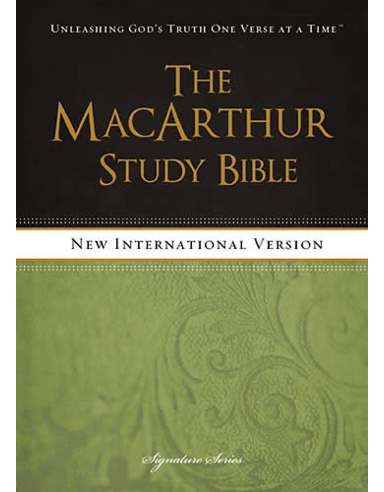 Harper Collins / Thomas Nelson / Zondervan MacArthur Study Bible: NIV Hardcover