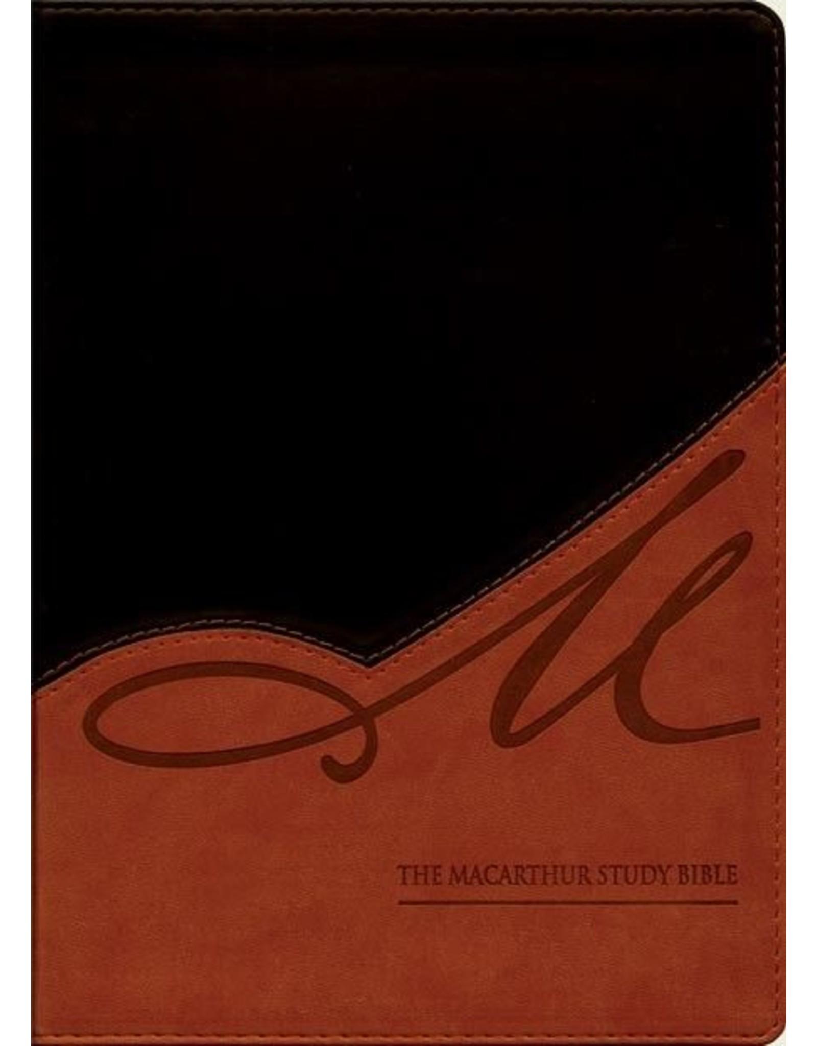 Harper Collins / Thomas Nelson / Zondervan MacArthur Study Bible: NASB Black/Terracotta-Tan LeatherSoft