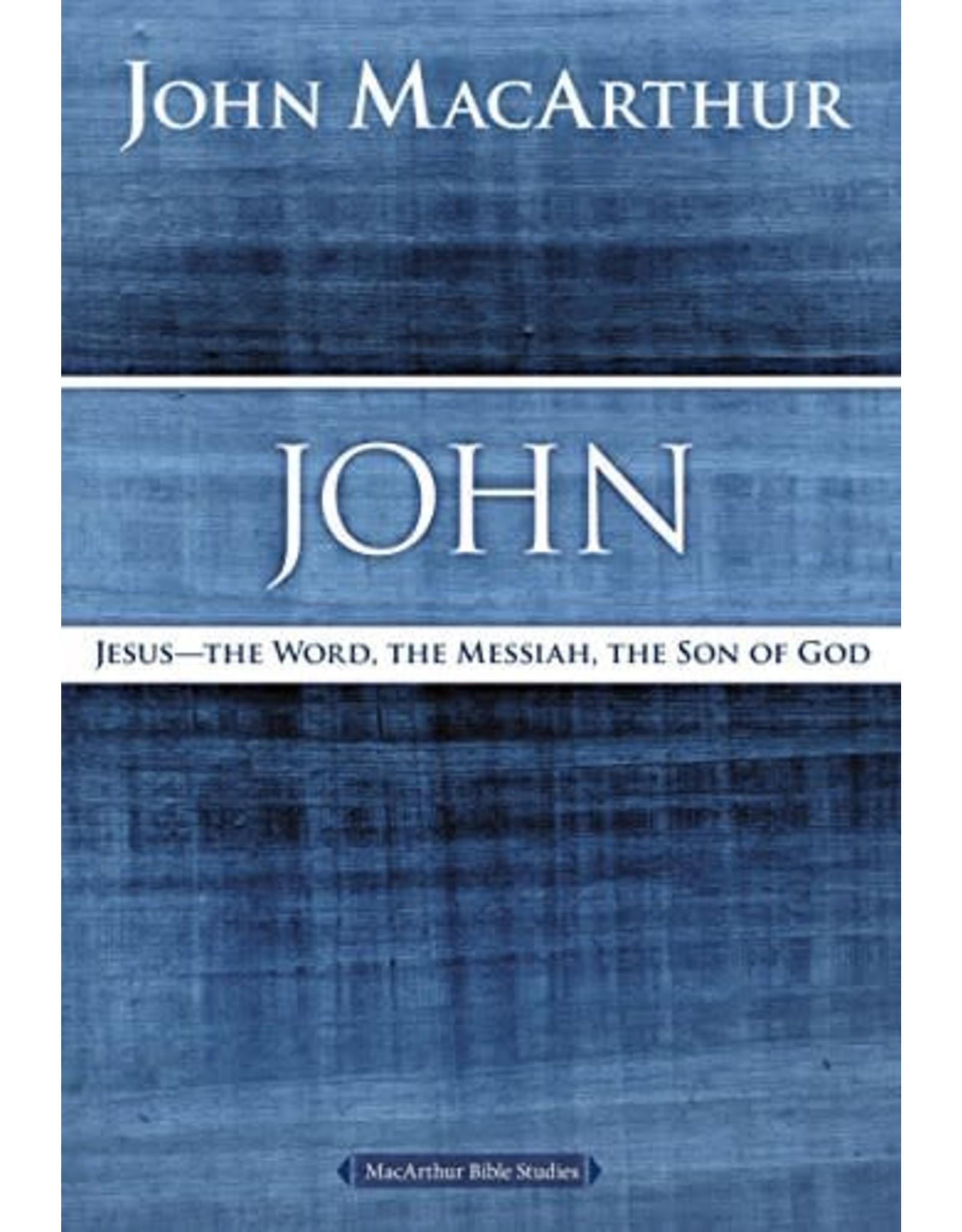Harper Collins / Thomas Nelson / Zondervan MacArthur Bible Studies: John