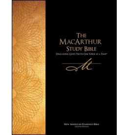Harper Collins / Thomas Nelson / Zondervan MacArthur Study Bible: NASB Black Bonded Leather